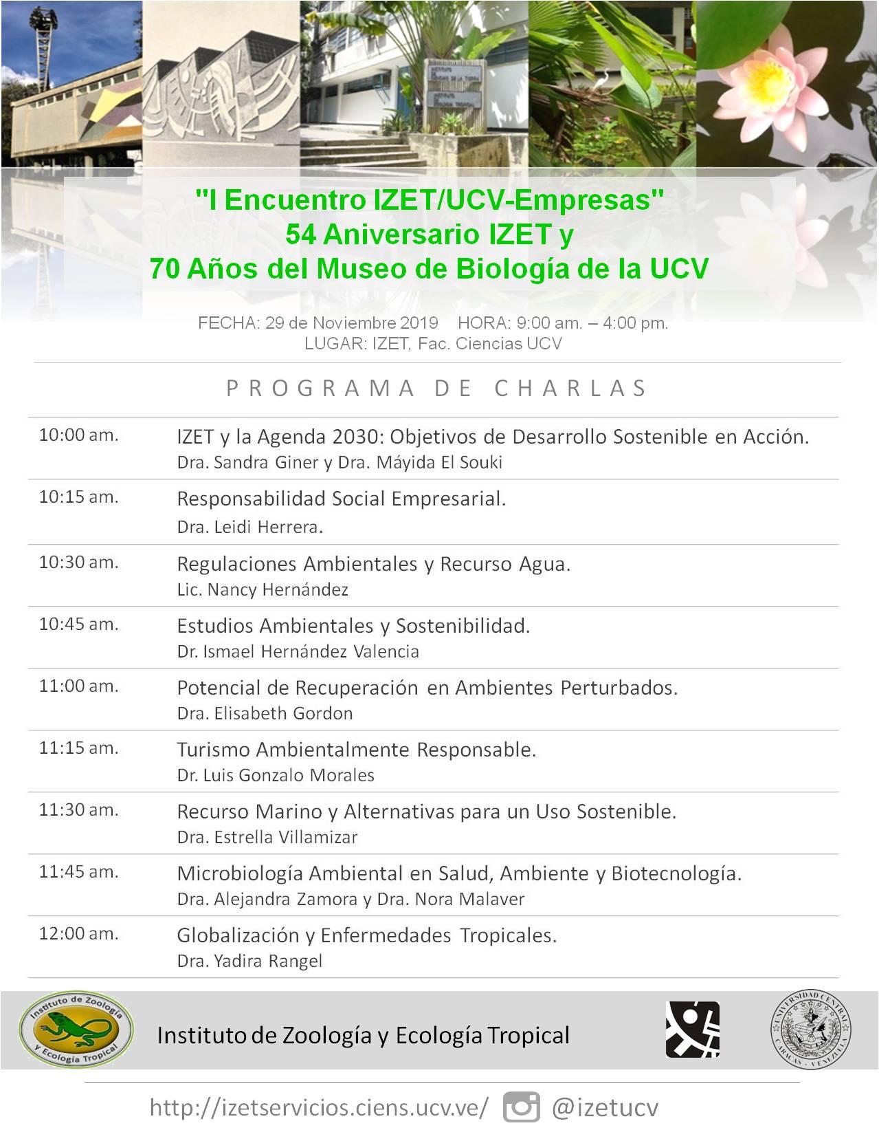 Charlas Encuentro IZETUCV